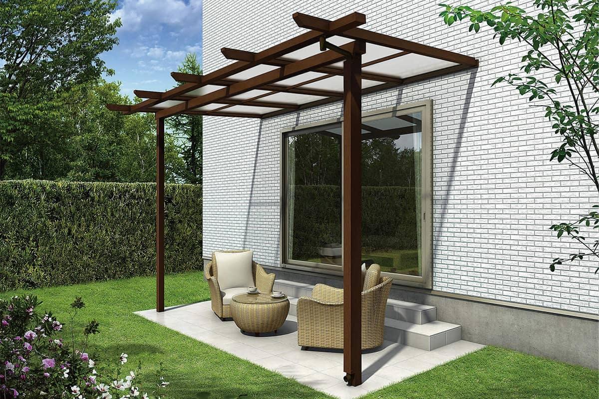 木調テラス屋根